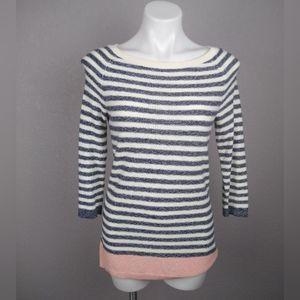 TALBOTS 3/4 sleeves striped sweater size xs